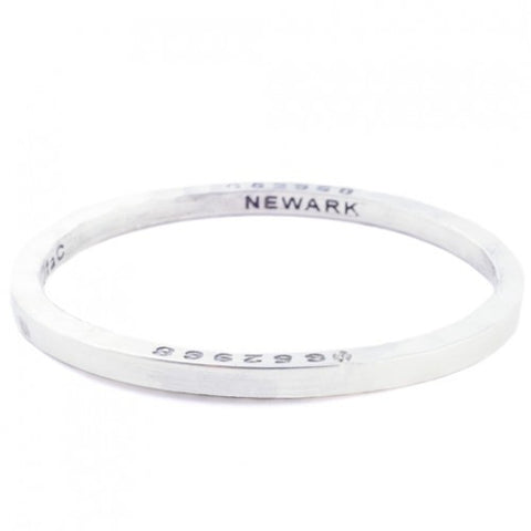 Steel Bangle with 1 Diamond Newark