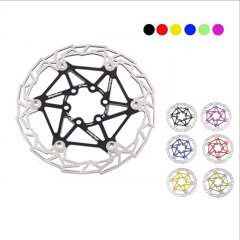 Ultralight Bicycle Floating Disc Brake Rotor 160mm, 6 Colors