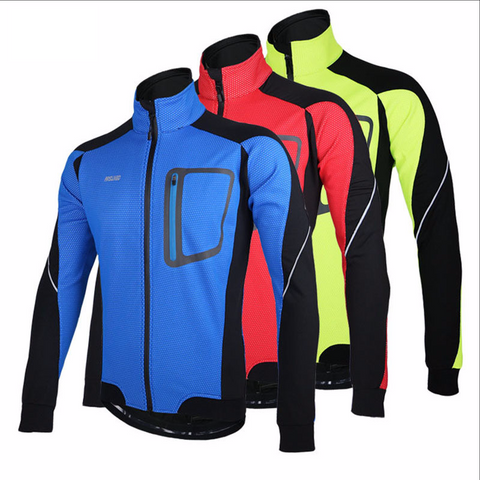 Cycling Windproof Winter Thermal Fleece Jacket
