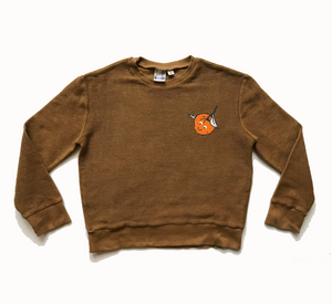 BRANDED REVERSE SWEAT - RUST - Rebel and Lola