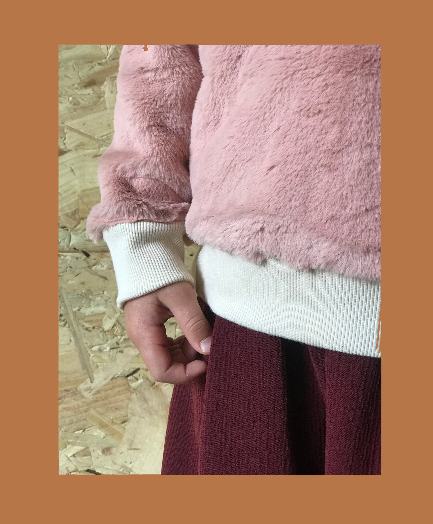 FAUX FUR SWEAT - DUST PINK - Rebel and Lola