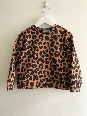 LARGE LEOPARD SWEAT - LATTE - Rebel and Lola