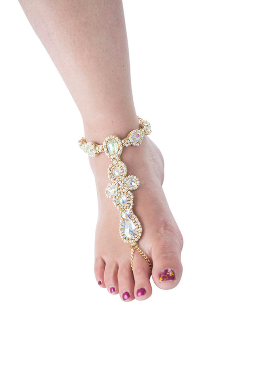 Mystique Rhinestone and gold foot jewelry