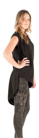Hard Tail Crop Front Tunic