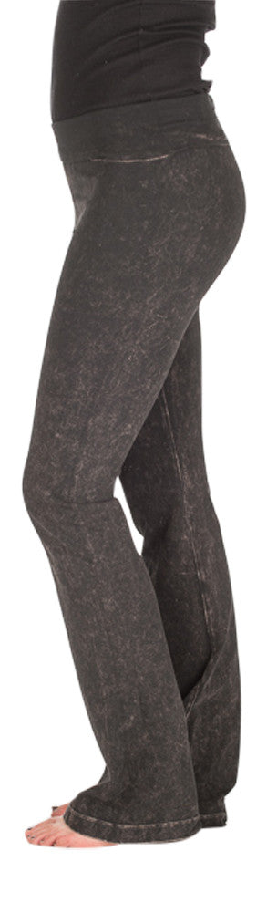 Hard Tail denim wash yoga pants (charcoal mineral wash)