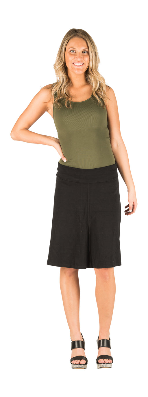 Hard Tail Rolldown Aline knee skirt