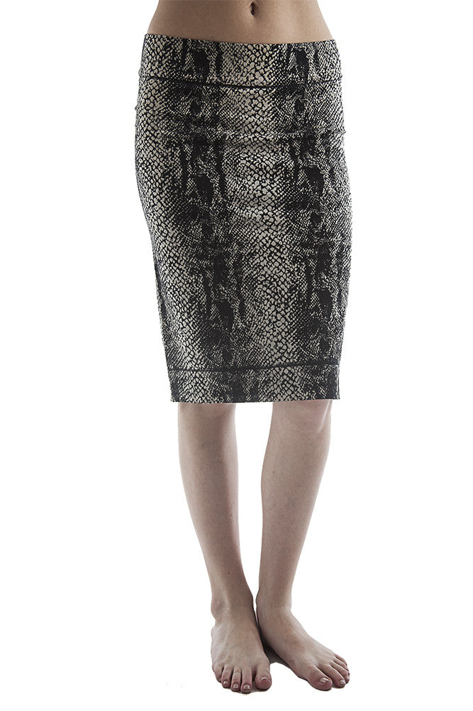 Hard Tail python pencil skirt