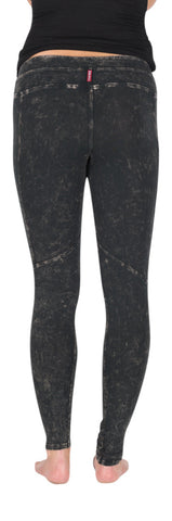 Hard Tail Denim wash skinny pocket ankle yoga legging