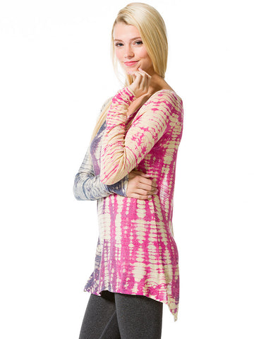 Hard Tail Split Wrap lightweight yoga sweater