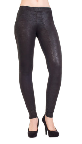 Evleo faux snake skin leggings