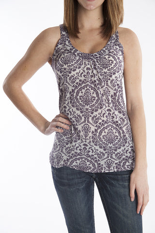 Hard Tail floral v-neck top