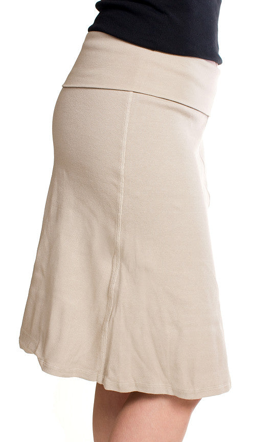 Hard Tail A Line Skirt (Beige)