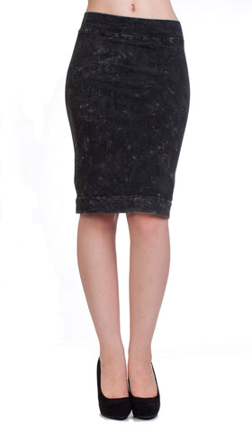 Hard Tail knee skirt - charcoal mineral wash