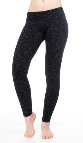 Hard Tail Ikat Basic Ankle Legging (black)