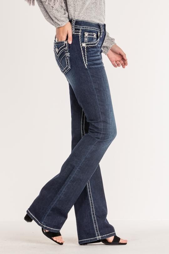 Miss Me Dark Horse mid rise bootcut jeans