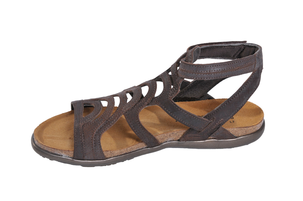 Naot Sara flat sandals in brown leather