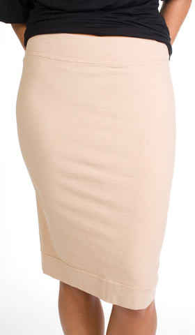 Hard Tail Pencil Skirt (Beige)