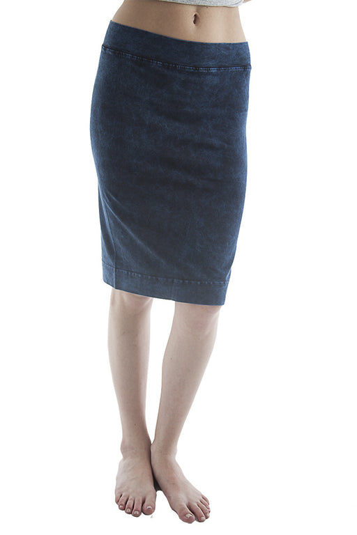Hard Tail Pencil Skirt (navy mineral wash)