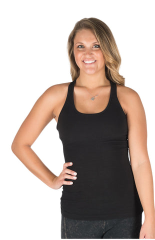 Hard Tail Women's U-Scoop Racerback Tank (black)