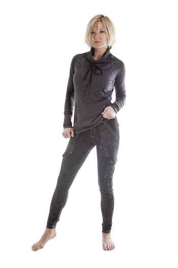 Hard Tail 6 Pocket cargo ankle leggings- W444