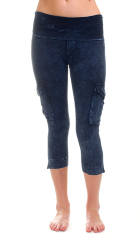 Hard tail Rolldown contour Cargo Crop yoga leggings - 2 colors!