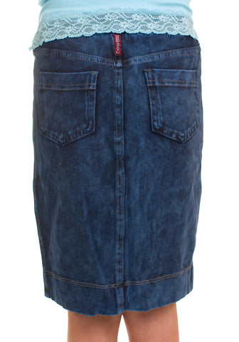 Hard Tail Denim Wash Girls Knee Skirt