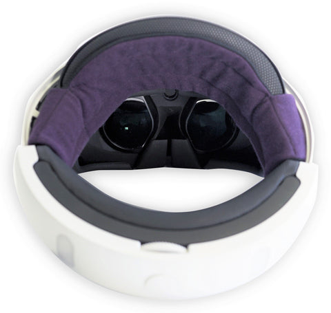 VRcomfy Sweatband (Purple) with PSVR
