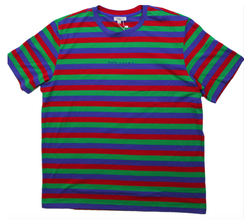 BLUE/RED/GREEN STRIPED SHIRT