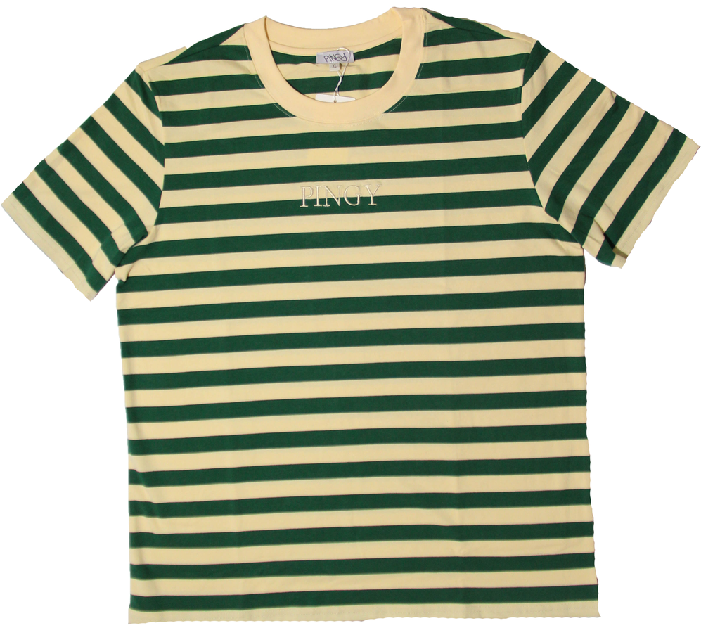 GREEN/CREAM STRIPED SHIRT