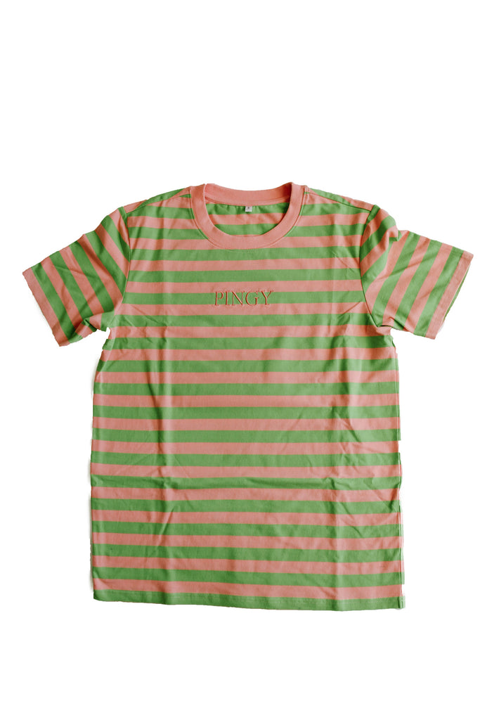 PINK/GREEN STRIPED SHIRT