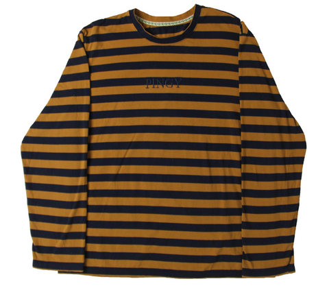 BROWN/DARK NAVY LONG SLEEVE