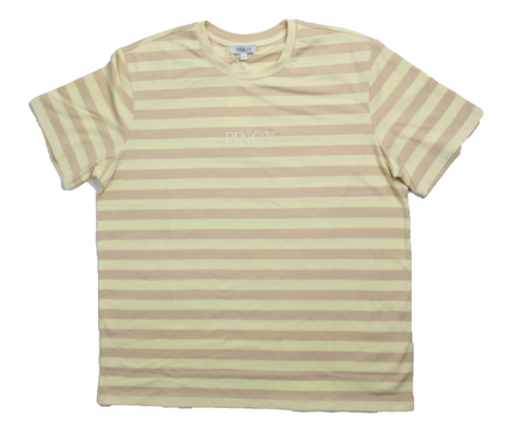 MAUVE/CREAM STRIPED SHIRT