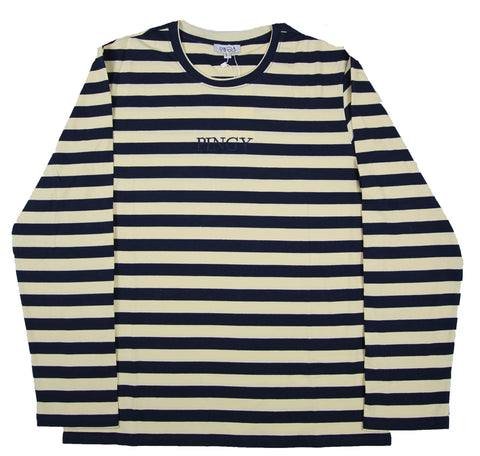 NAVY/CREAM LONG SLEEVE