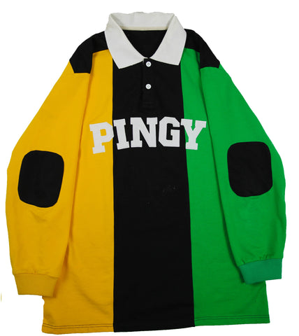 YELLOW/GREEN RUGBY POLO