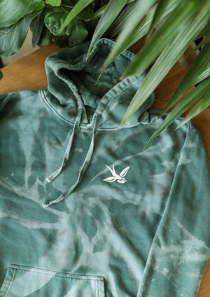 Load image into Gallery viewer, The Classic Hoodie (Custom Bleached / Sage Green)