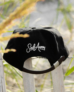 leather strap-back hat