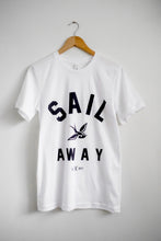 Load image into Gallery viewer, white tee Sail Away coffee