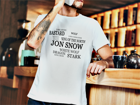 Jon Snow Short Sleeve T-Shirt - The 2nd Tee Shop Tees