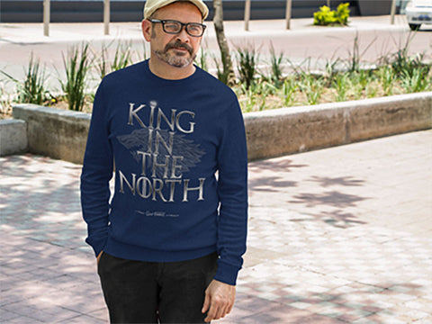 The King In The North Long Sleeve Fitted Crew - The 2nd Tee Shop Tees