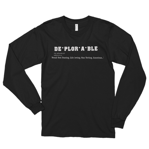 Deplorable Definition Men's Long Sleeve Tee - The 2nd Tee Shop