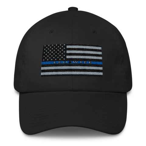 "Back The Blue "" LEO Wife"" Cotton Cap - The 2nd Tee Shop Hats"