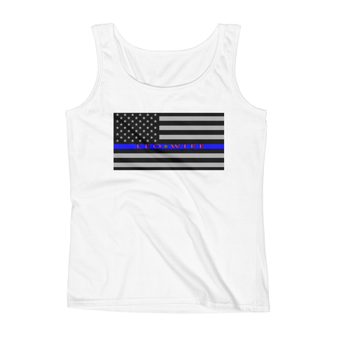 The Thin Blue Line - LEO Wife Tank - The 2nd Tee Shop Tank Top