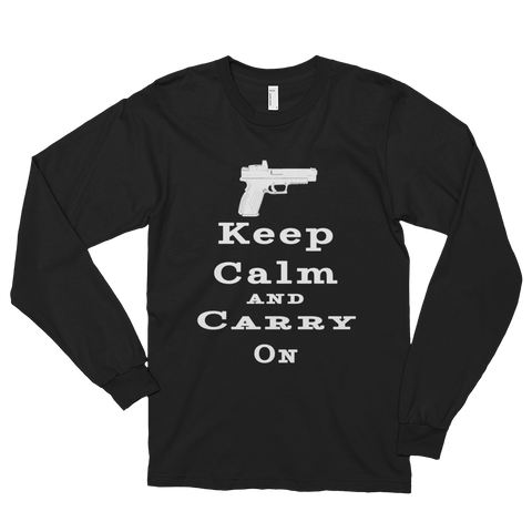 Keep Calm and Carry On Men's Long Sleeve T-Shirt - The 2nd Tee Shop