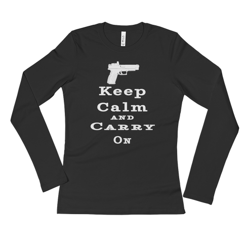 Keep Calm and Carry On Ladies's Long Sleeve T-Shirt - The 2nd Tee Shop