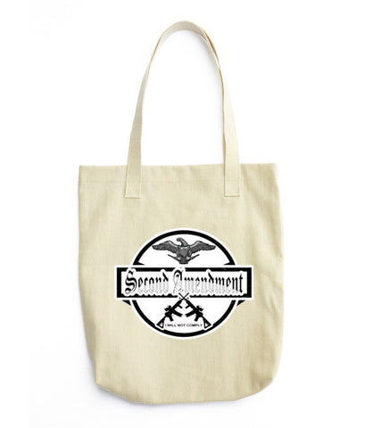 Denim Second Amendment Woven Cotton Tote Bag - The 2nd Tee Shop