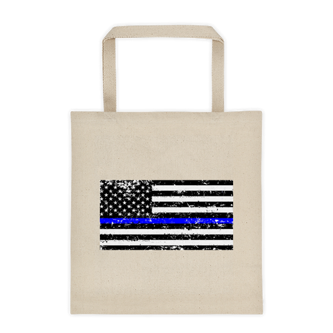 Back The Blue - A Thin Blue Line Tote bag - The 2nd Tee Shop Tote