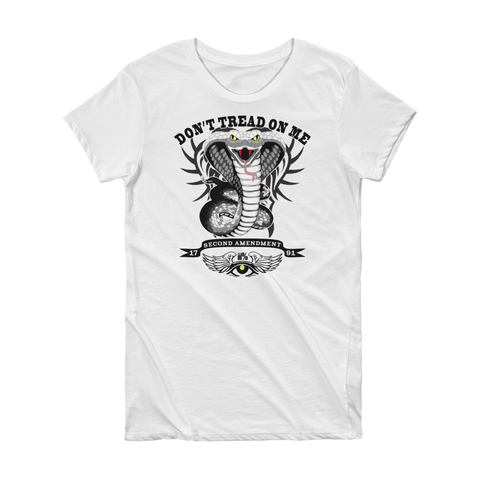 Don't Tread On Me  Short Sleeve Ladies's Tee - The 2nd Tee Shop