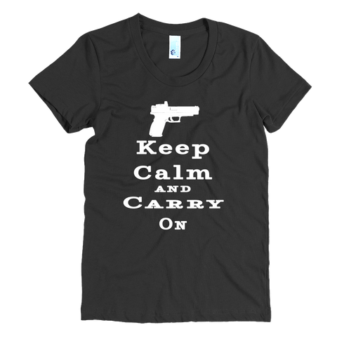 Keep Calm and Carry On Women's Short Sleeve Tees - The 2nd Tee Shop
