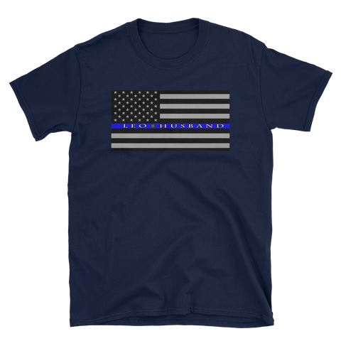 The Thin Blue Line - LEO  Husband T-Shirt - The 2nd Tee Shop Tees