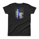 """Back the Blue"" - The Thin Blue Line Ladies' T-shirt - The 2nd Tee Shop Tees"